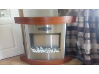 Adam Fireplace Suite Wood & Stainless Steel Electric Fire with Feature Pebble Bed inc Instructions