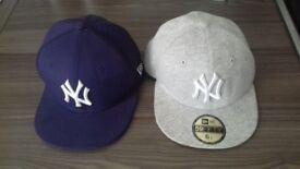 Flat peak caps/hats