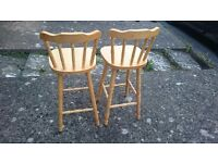 Two bar-chairs £20 each £30 for the two