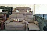 Brand new grey fabric suite. Free Delivery.