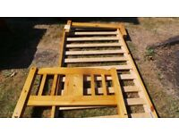 Julian Bowen Wooden Bed Frame + 2 Free Sleepmasters Mattresses - Used