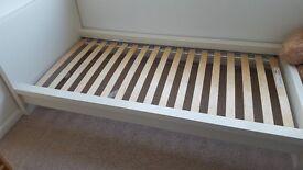 Ikea Malm single bed frame, white.