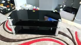 Alphason Black Glass TV Stand