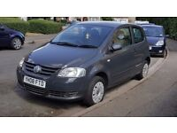 Volkswagen FOX, 2008, Petrol 1.2, Manual, Only 64k, Long MOT, Grey, Very economic,