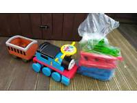 Child's electric Thomas train and track