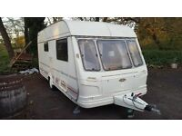 COACHMAN 2 BIRTH CARAVAN YEAR 2000 IN MINT CONDITION WITH FULL SIZE AWNING