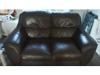 Brown Leather 3 Piece & 2 Piece Leather Suite