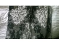 90x90 black and grey curtains