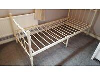 Girls cream single bed frame.