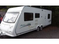 6 BERTH ELDDIS 2008/09 TWIN AXLE FAMILY VAN CRIS REGISTERED TWIN BEDROOMS. AWNING. ALL ACCESSORIES.