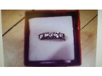 ***BOXED CZ RING SIZE M***