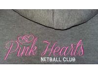 Exeter Pink Hearts Netball Club -fun,friendly club training