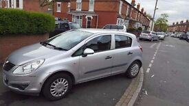 Silver 5 Door Vauxhall Corsa