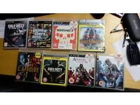 PS3 games bundle for sale (GTA5, COD Ghosts & Black Ops, Assassins Creed 1 and 2 and more)