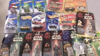 Hot wheels and Star Wars collection still in packages