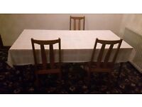 Table with 4 chairs +free