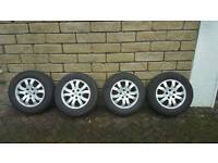 Genuine Honda Alloys with tyres