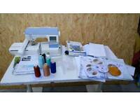 Embroidery Machine and complete setup
