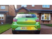 2013 63 SEAT IBIZA TOCA 1390cc 1.4 Lima Green 3 Door Tinted Windows 8309 miles