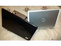 2 working duo core laptops HP DV9000 webcam, wireless & Dell Inspiron DV6400 win7, office, working