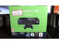 XBOX One Matte Black 500gb w/ box (£110 without controller)