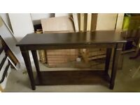 Hallway console side wood table