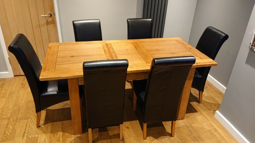 Harveys Toulouse Oak Dining Table 6 Chairs
