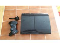 PlayStation 3 Super Slim 500GB - 1 Official PS3 Controller - 18 Games - 1 Bluetooth Headset