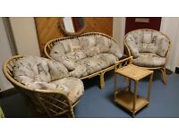 cane conservatory suite bamboo VGC 1x 2seater 2x 1 seaters excellent condition £80 ono can deliver