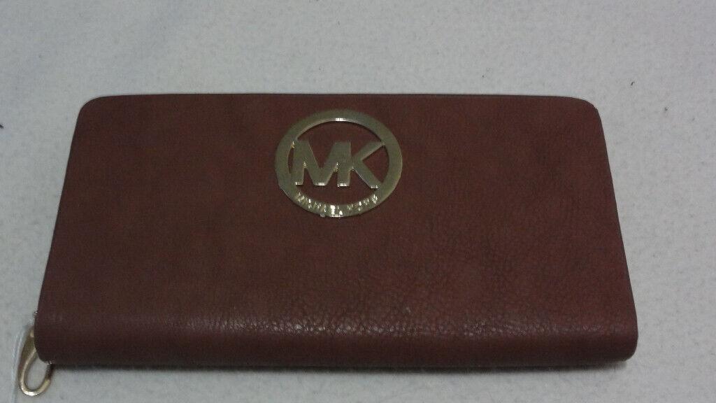 96330751b71d Michael Kors Women's Fulton Carryall Genuine Leather Wallet Clutch Bag  Handbag Brown RRP £125