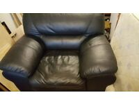 Black Leather Arm Chair FREE to collect