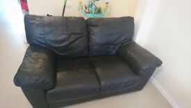 2 seater and 3 seater leather sofa.