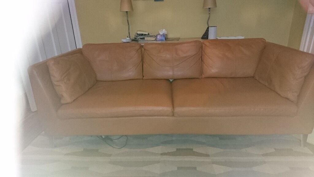 Astonishing Ikea Stockholm Leather Sofa For Sale Pick Up Only In Bearsden Glasgow Gumtree Gmtry Best Dining Table And Chair Ideas Images Gmtryco