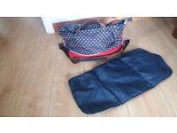 Baby change bag and mat