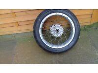 aprilia motor cycle rear wheel and tyre