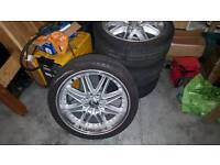 LENSO 17INCH 4 STUD MULTIFIT 4 GREAT TYRES