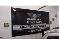Vehicle Signs, Shop Signs, Banner Printing, Van Sign Writing, Leaflet Printing, Business Cards