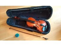 Student/Beginner 4/4 Size Yamada Violin with Bow and Case for Sale - Pristine Condition