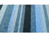 Lovely blue white stripe tiles