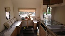Newly Converted Towing Caravan - Double bed & table which turns into single bed - Sleeps 3
