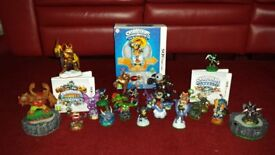 Nintendo 3DS Skylanders figures , Spyros adventure game + portal , Skylanders giants game + portal