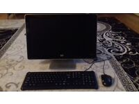 HP PC 18 inch monitor +keyboard and mouse