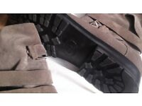 Dior Engineer bootsDior Homme Runway Gray Strap Leather Boots CD shoes size 41 -