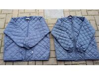 Blue padded jackets