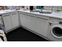 Gloss white kitchen cabinet doors