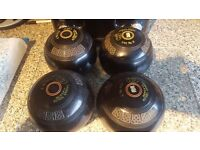 Lawn bowls thomas taylor lignoid size 3