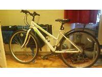 Ladies apollo cascade hybrid bicycle