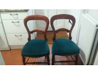 3 antique dining room chairs