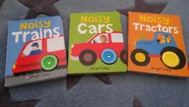 Set of 3 noisy board books. £2 for the set