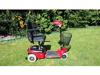Shoprider Wispa Folding Transportable Car Boot Mobility Scooter RED